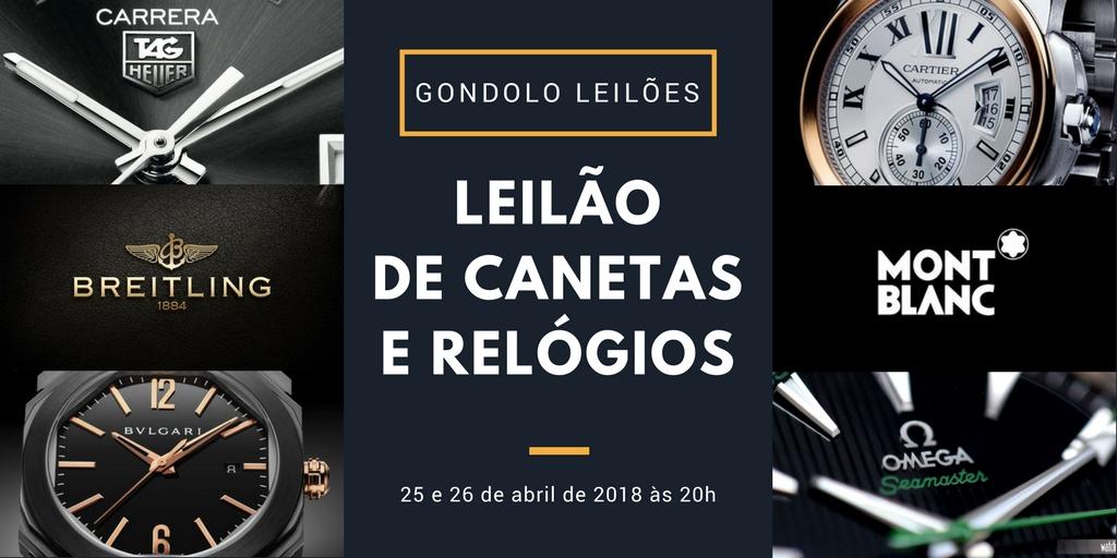 4559d83f644 Gondolo Leilões faz em abril grande leilão de relógios e canetas ...
