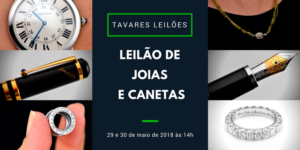 06eb59caec3 Tavares Leilões faz leilão de joias e relógios nos dia 29 e 30 de maio -  Blog Leilões BR