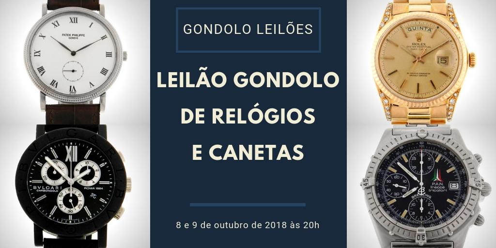 22092b5f648 Leilão da Gondolo em outubro com mais de 430 relógios e canetas! - Blog  Leilões BR