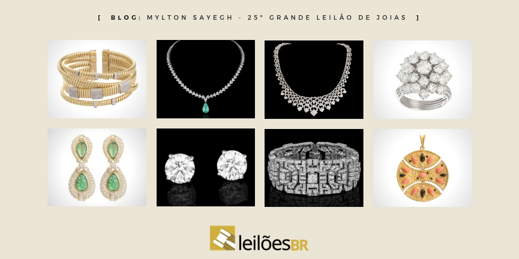 c4e9fd1c35a43 25º Leilão de joias Miton Sayegh será presencial e online no dia 08 de  dezembro de 2018, sábado, às 11h