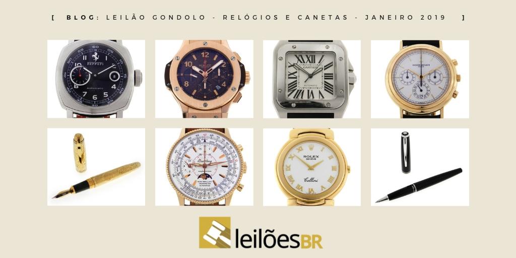 5ff42583c06 Novo leilão da Gondolo dia 29 de janeiro às 19h com 434 relógios e canetas!  - Blog Leilões BR