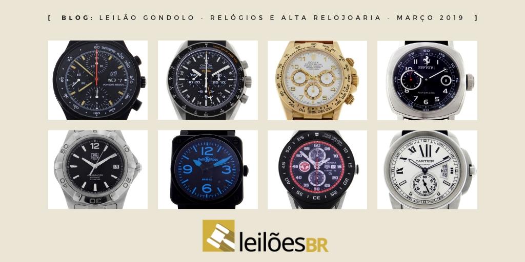 a1e77180fdd Novo leilão da Gondolo dia 12 de março de 2019 com 338 relógios e 54 canetas  - Blog Leilões BR