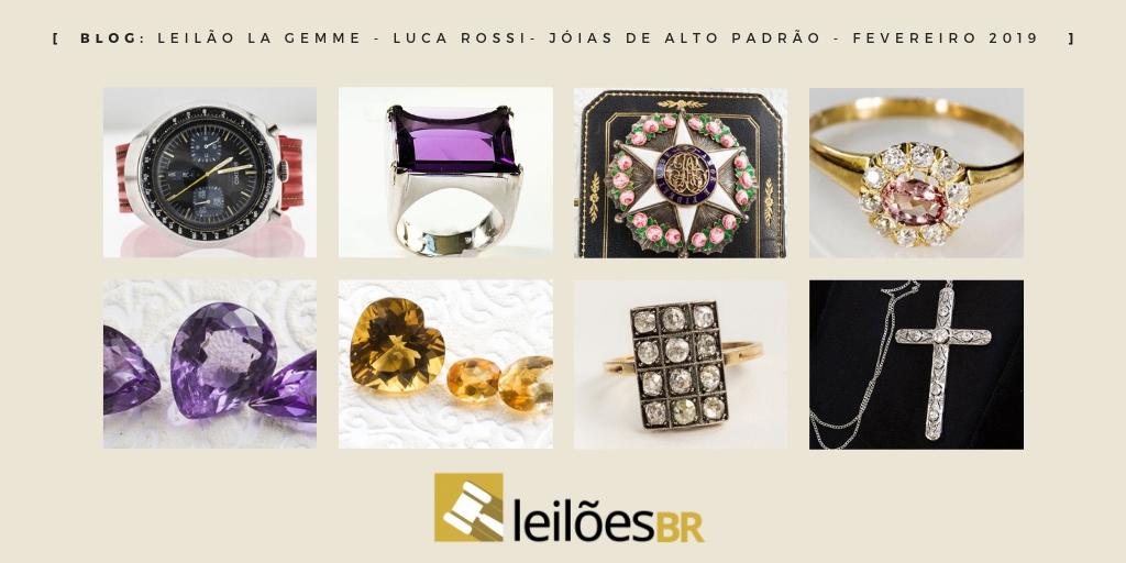 0c0d13dc74444 Leilão de joias de alto padrão da La Gemme Luca Rossi no dia 13 de  fevereiro de 2019 às 19h